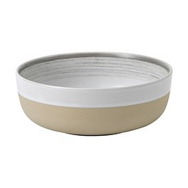ED Ellen DeGeneres crafted by Royal Doulton collection - Bowl 17cm Brushed Glaze Soft White