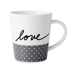 ED Ellen DeGeneres Crafted by Royal Doulton - Love Grey Mug 450ml