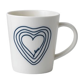 ED Ellen DeGeneres Crafted by Royal Doulton collection Mug Blue Heart 450ml