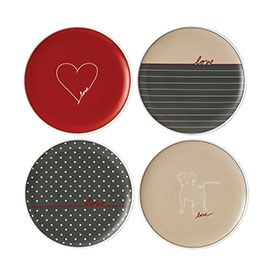 ED Ellen DeGeneres collection - Plate 21cm Signature Set of 4