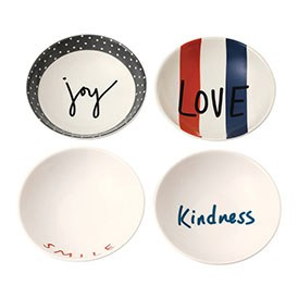 ED Ellen DeGeneres crafted by Royal Doulton collection - Bowl 14cm Joy Set of 4