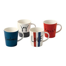 ED Ellen DeGeneres collection - Mug 450ml Joy Set of 4