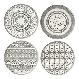 ED Ellen DeGeneres crafted by Royal Doulton collection - Plate 21cm Grey Accents Set of 4