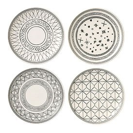 ED Ellen DeGeneres collection - Plate 16cm Grey Accents Set of 4