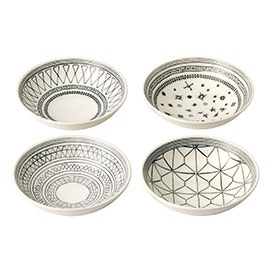 ED Ellen DeGeneres collection - Bowl 14cm Grey Accents Set of 4