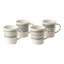 ED Ellen DeGeneres crafted by Royal Doulton collection - Mug 450ml Grey Accents Set of 4