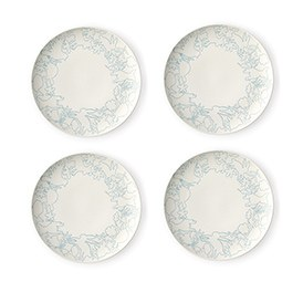 ED Ellen DeGeneres crafted by Royal Doulton Polar Blue Accents - Plate 21cm Set of 4
