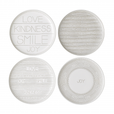 Ellen DeGeneres  Taupe Accents 21cm Plates - Set of 4