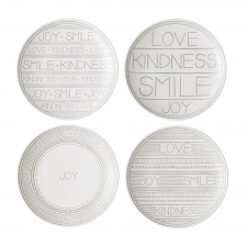 Ellen DeGeneres Taupe Accents 16cm Plates - Set of 4
