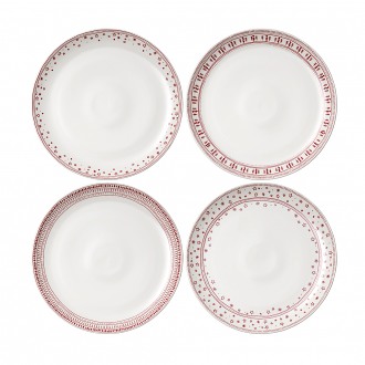 ED Ellen DeGeneres crafted by Royal Doulton Christmas Plate 28cm (Set of 4)