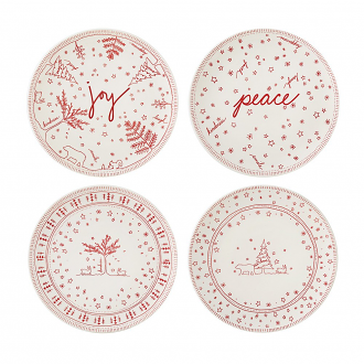 ED Ellen DeGeneres crafted by Royal Doulton Christmas Accents Plate 21cm (Set of 4)