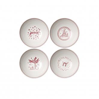 ED Ellen DeGeneres crafted by Royal Doulton Christmas Bowl 20cm (Set of 4)