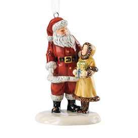 Royal Doulton Christmas Ornaments Santa & Girl HN 5862