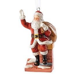 Royal Doulton Christmas Ornaments Santa on Chimney HN 5863