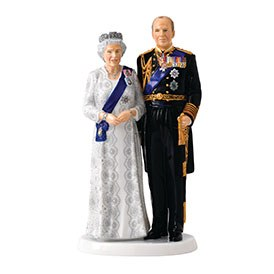 Royal Doulton Commemoratives Queen and Prince Philip 70th Wedding Anniversary