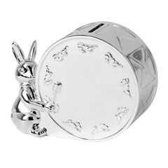Royal Doulton Bunnykins silver Gift Money Box 10cm