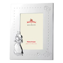 "Royal Doulton Bunnykins silver Gift Photo Frame 4"" x 6"""