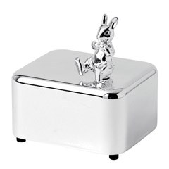 Royal Doulton Bunnykins silver Gift Music Box 7cm