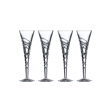 Saturn Nouveau Crystal Flute Set Of 4