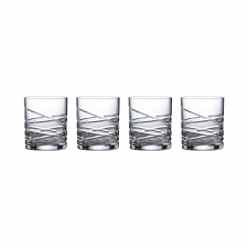 Saturn Nouveau Crystal Tumbler Set Of 4
