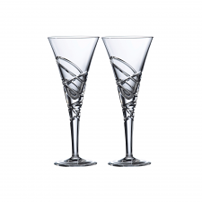 Saturn Nouveau Crystal Wine Set Of 2
