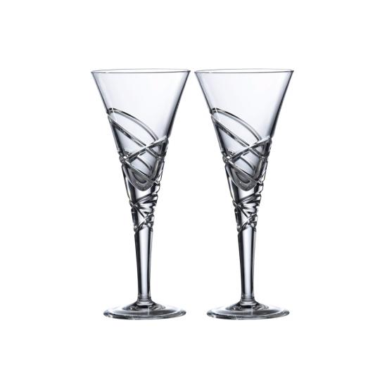 Saturn Nouveau Crystal Wine Set Of 2