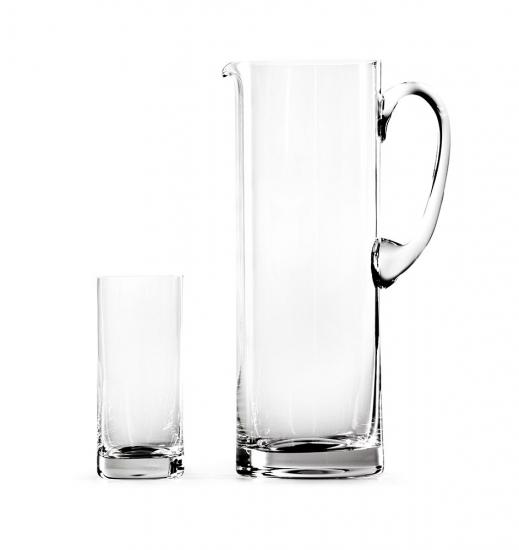 Glass Sets Straight Jug Set and Highball Set Of 6