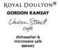 Gordon Ramsay Union Street Cafe Blue Set of 4 Bowls 14cm