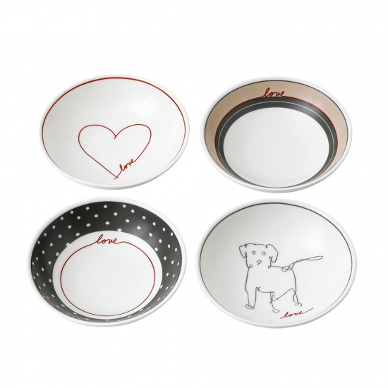 ED Ellen DeGeneres collection - Bowl 14cm Signature Set of 4
