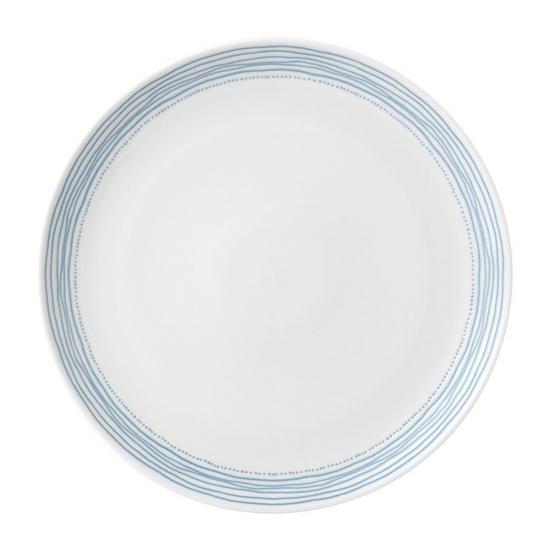 ED Ellen DeGeneres Plate 28cm Polar Blue Dots