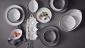ED Ellen DeGeneres collection - Bowl 17cm Brushed Glaze Soft White