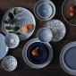 ED Ellen DeGeneres collection - 16 Piece Set Brushed Glaze Cobalt Blue