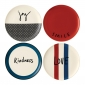 ED Ellen DeGeneres collection - Plate 21cm Joy Set of 4