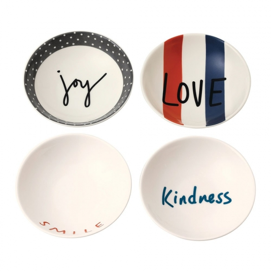 ED Ellen DeGeneres collection - Bowl 14cm Joy Set of 4