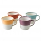 1815 Set of 4 Mugs Warm Colours