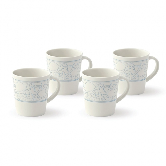 ED Ellen DeGeneres Polar Blue Accents - Mug 450ml Set of 4