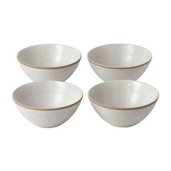 Gordon Ramsay Maze Grill White Bowl 16cm Mixed (Set of 4)