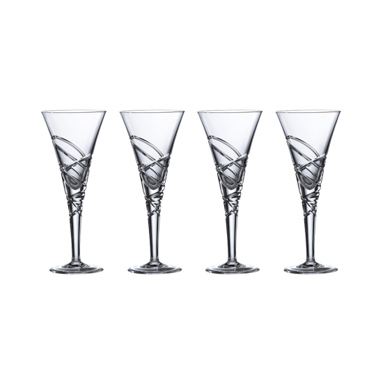 Saturn Nouveau Crystal Wine Set Of 4
