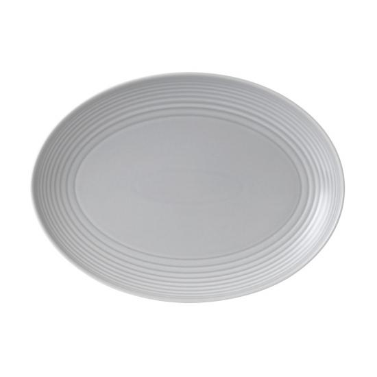 Gordon Ramsay Maze by Royal Doulton Light Grey Oval Platter 43cm