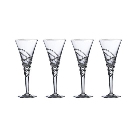 Saturn Nouveau Crystal Wine Set Of 4