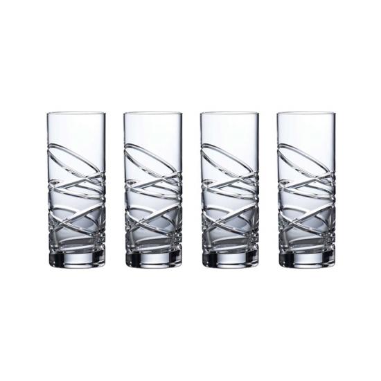 Saturn Nouveau Crystal Hiball Set Of 4