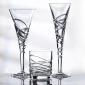Saturn Nouveau Crystal Flute Set Of 2