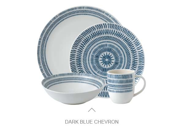 Dark Blue Chevron